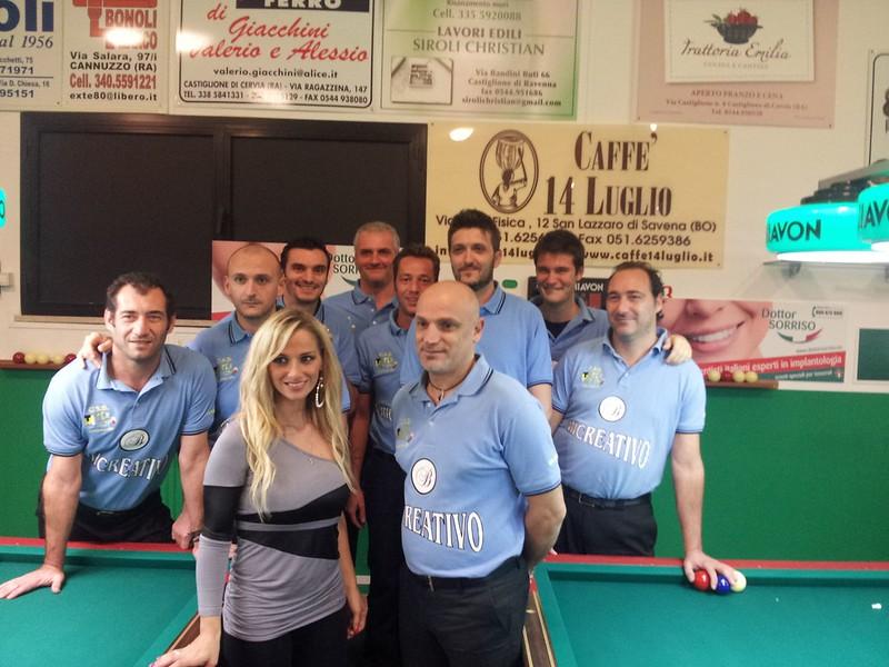 Coppa Campioni regionale SERIE A1 Tex Master - Bussecchio Forli a Castiglione di Cervia. Diretta TV