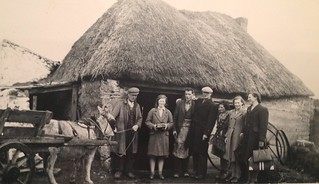 Outside The local smithy, Mum took this shot of the Mulcahy family  in Rathwood, Abington, Morrie, Co Limerick, Ireland, 1947