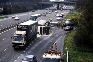 M6 Accident Junction 15 | A DAF 2800 tractor unit and and cu