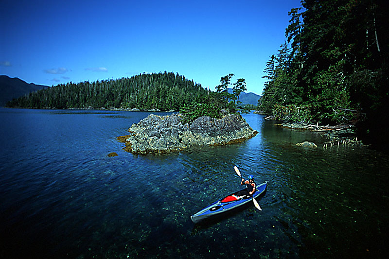 Sea Kayaking in Nootka Sound, Vancouver Island, British Columbia, Canada