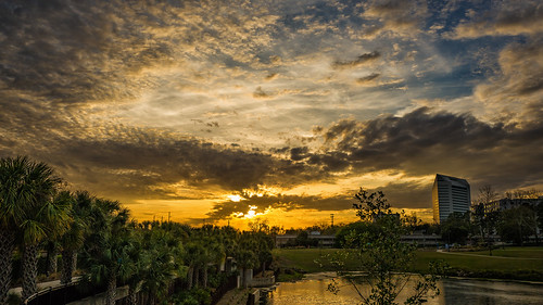 sunset florida tallahassee city fl usa