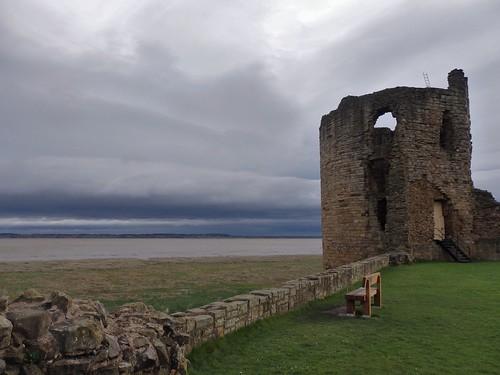 flint flintshire wales north castle river dee clouds view ruins