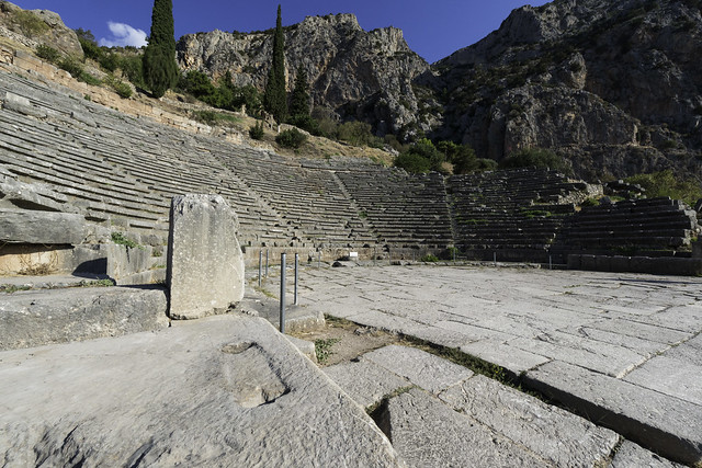 Delphi, The Northern Slope of the Sanctuary – III - The Theater