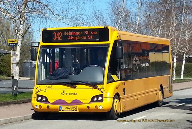 LHD Optare Solo 3105 BG94805 route 342