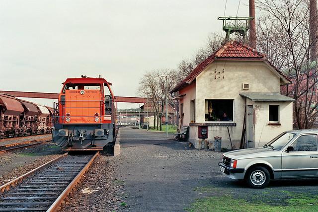 HEG: Lok 832 im Bahnhof Werk Hattorf