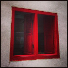 Red shutters...