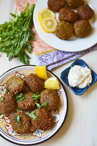 Homemade Falafel with Yogurt-Tahini via LittleFerraroKitchen.com | by FerraroKitchen1