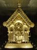 Relikviář sv. Maura – čelní strana, sedící Ježíš, foto: fototéka NPÚ – fotografie relikviáře poskytla správa státního hradu a zámku Bečov