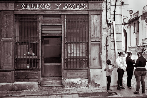 Out of business butcher - Montevideo, Uruguay   by Phil Marion