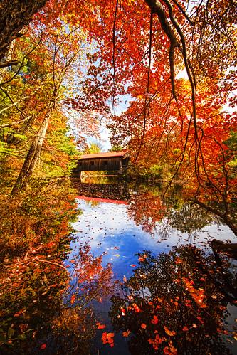 fall water river waterloo coveredbridge cliffordphotography robertallanclifford cliffordphotographynhcom