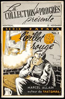 L'œillet rouge. Collection du progrès, Série Fatala, no. 1 / L'œillet rouge, Collection du progrès, série Fatala, no 1