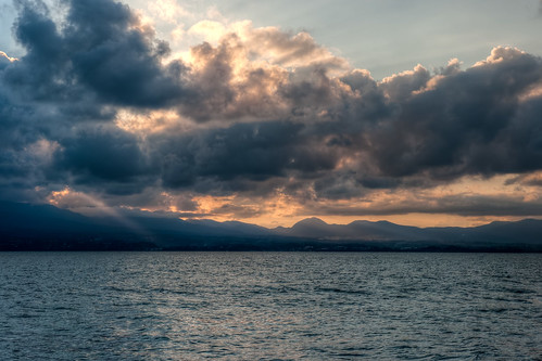 nuage crépuscule hdr guadeloupe océan