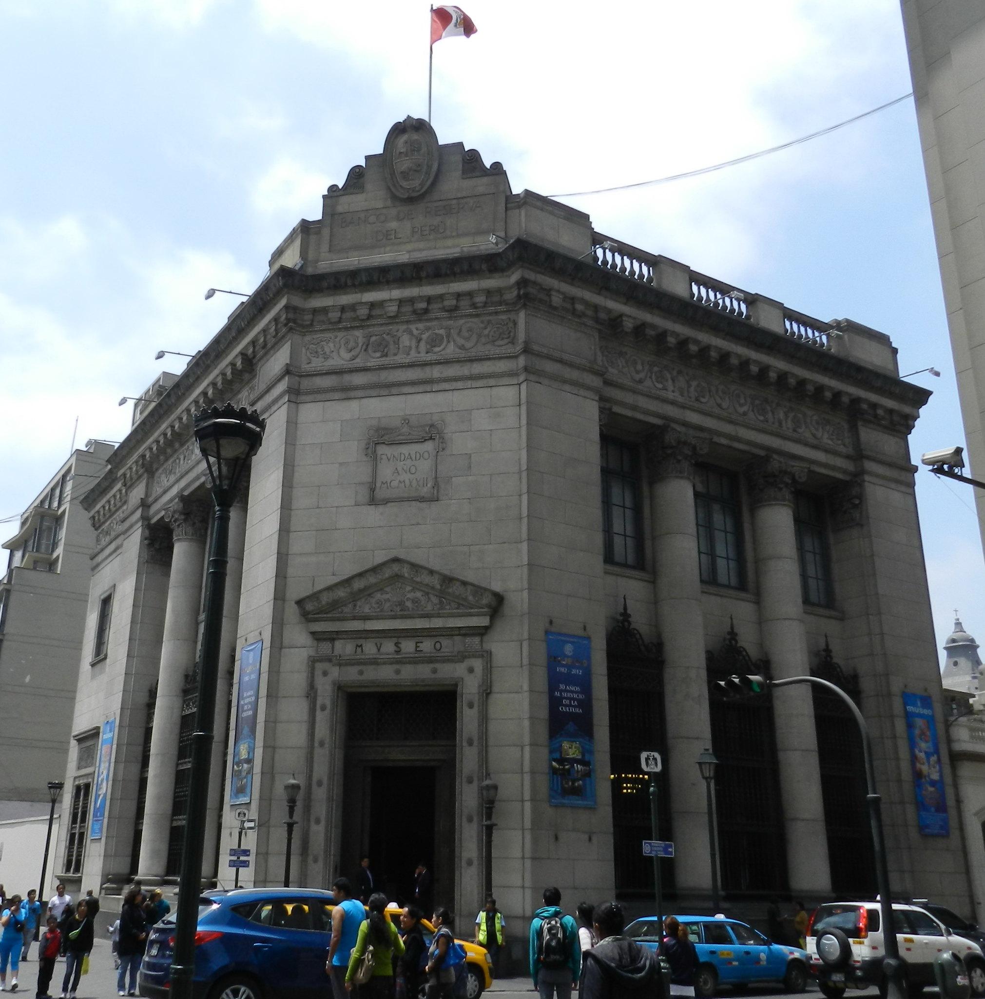 Lima edificio del Museo Banco Central de la Reserva del Peru