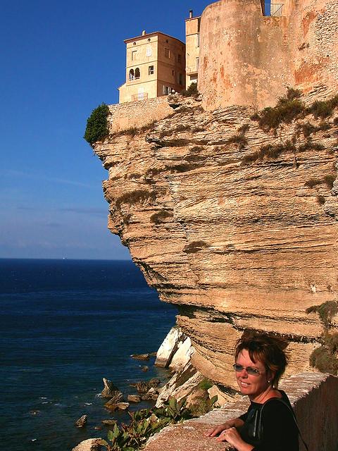 Corsica - Bonifacio. Who dares to live on the cliff? Not me!