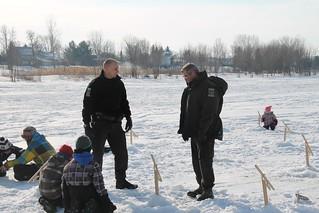 Les agents de la faune ont participé à l'évènement