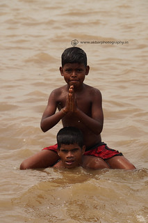 Circus feet in godavari water | by Akbar - Web Designer and Freelance Photographer