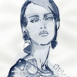 Drawing no.170306-01 #watercolor #illustration #illustrator #drawing #fashion #fashionillustrationsketch #fashionista #fashionillustrations #fashionillustrator #Japan #tokyoillustrator #beauty #beautyillustration #fashionsketch #sketch #art #portraitdra | by loopool
