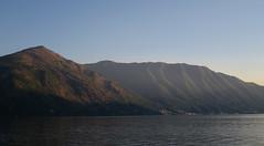 Atardecer en el lago de Como