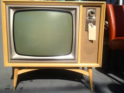 stock   Sunday Streets Mission Dist April 2013: Retro TV For Sale | by Lynn Friedman