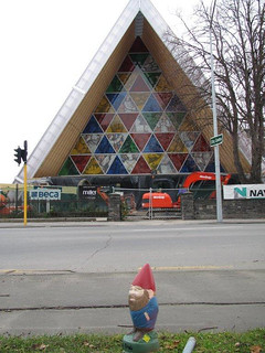 Gimli visits the Cardboard Cathedral | by kaszeta