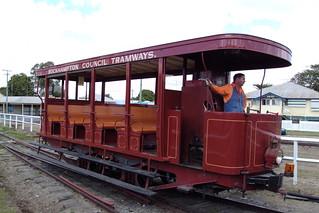 Steam powered tram heritage ride in Rockhampton central Queensland. | by denisbin