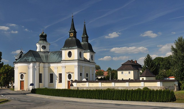 Zvole (CZ) Baroque church by J. Santini