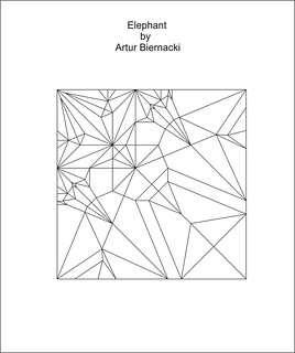 Elephant by Artur Biernacki - crease pattern | by Arturori
