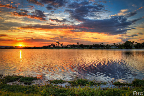 sunset lake clouds plane airport colorful lantana hdr photomatix lakeosborne topazplugins