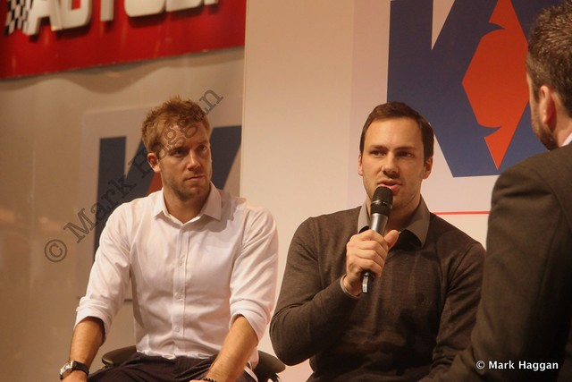 Sam Bird and Gary Paffett at the Autosport International Show 2014