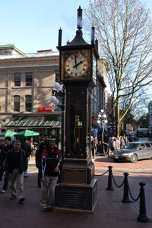 Steam clock in Gastown, Vancouver, British Columbia, Canada