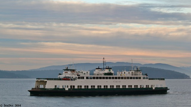 MV Evergreen State deadheading to Friday Harbor - Washington State Ferries