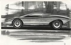 Marcello Gandini - Lamborghini Countach rendering