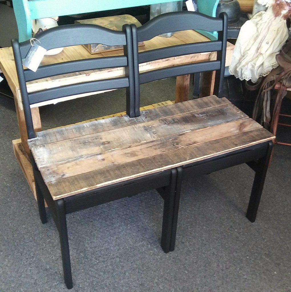 Strange Vintage Chair Bench With Pallet Wood Seat Double Chair Pal Customarchery Wood Chair Design Ideas Customarcherynet