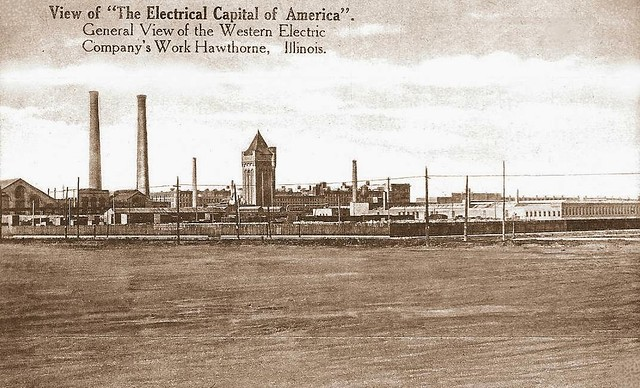 POSTCARD - CHICAGO - WESTERN ELECTRIC - GENERAL VIEW OF THE WORKS - HAWTHORNE - ELECTRICAL CAPITAL OF AMERICA - c1910