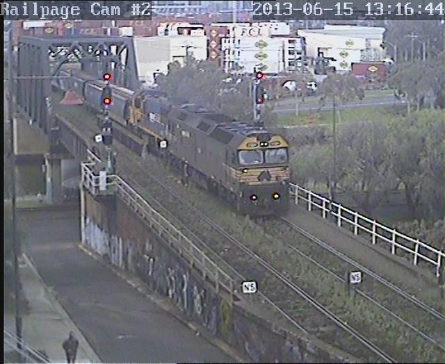 G524-XR551 Down PN BG Grain, ex Appleton Dock 15-6-2013 by Railpage Bunbury Street