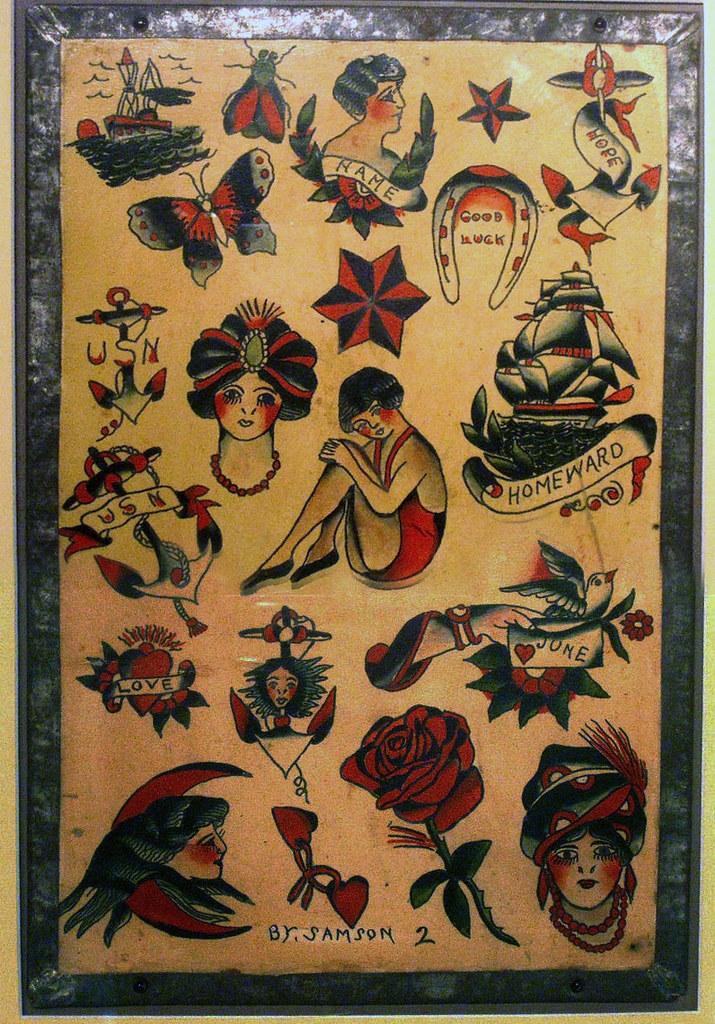 713575313 floyd-samson-flash | Vintage Tattoo Flash | Flickr