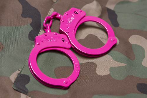 UZI Chain Handcuff - Pink   by campcophotos