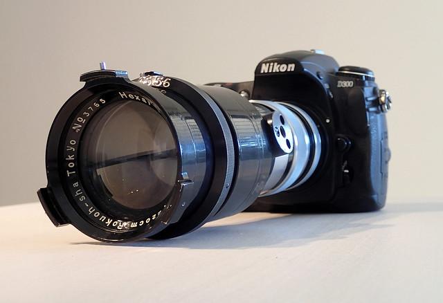Nikon D300 with Rokuoh Sha Hexar 20cm (sn 3765) nº4