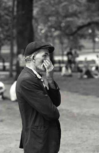 Man Holding Nose, Boston '72 | by Ned Bunnell