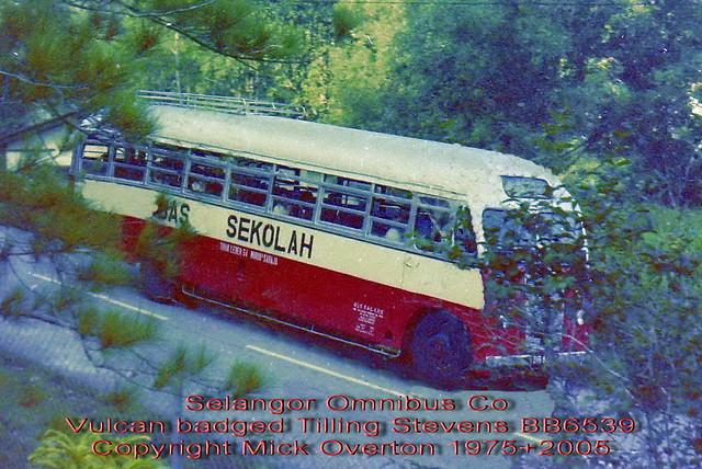 Selangor Omnibus Co 1953 Vulcan 6PF BB6539