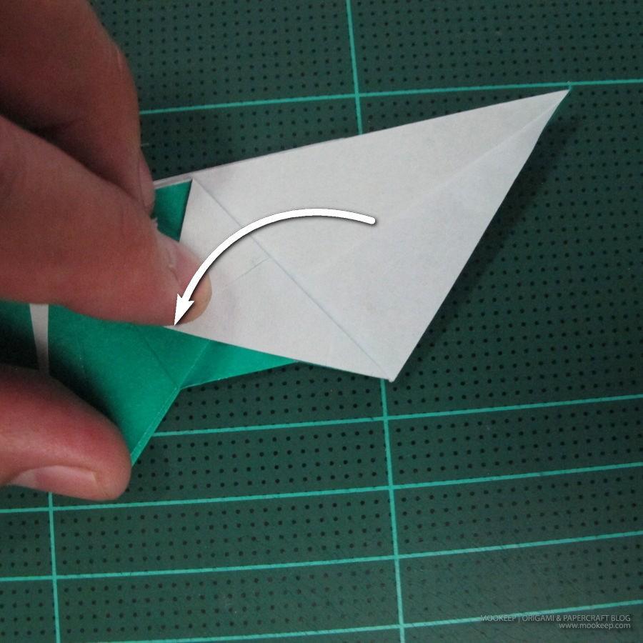 วิธีพับกระดาษเป็นรูปหมู (Origami Pig) 023