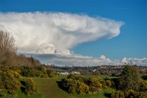 cumulonimbus incus cloud anvil shower sky weather hail blue nature landscape lagan meadows belfast northern irelandnikon d3200