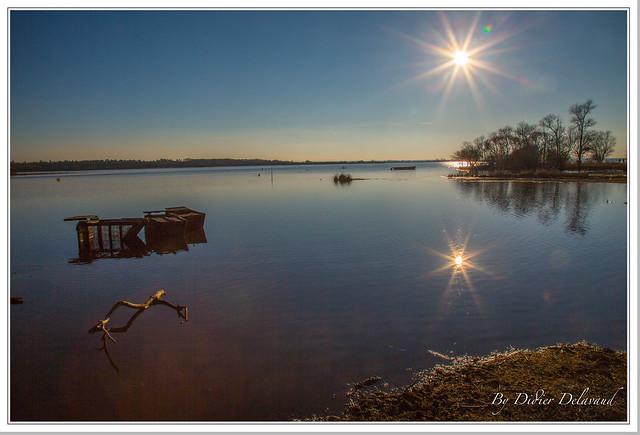 Le Lac de Grand lieu, Coucher de soleil