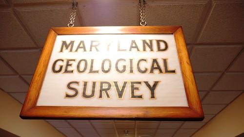 Photo of Maryland Geological Survey sign
