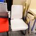 White and chrome chair E25