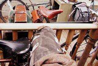 Edinburgh Harris Tweed Ride 2013 - nice saddles + bags