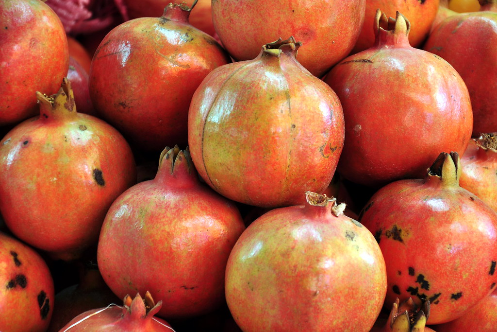 India Karnataka Mysore Devaraja Market Pomegranate