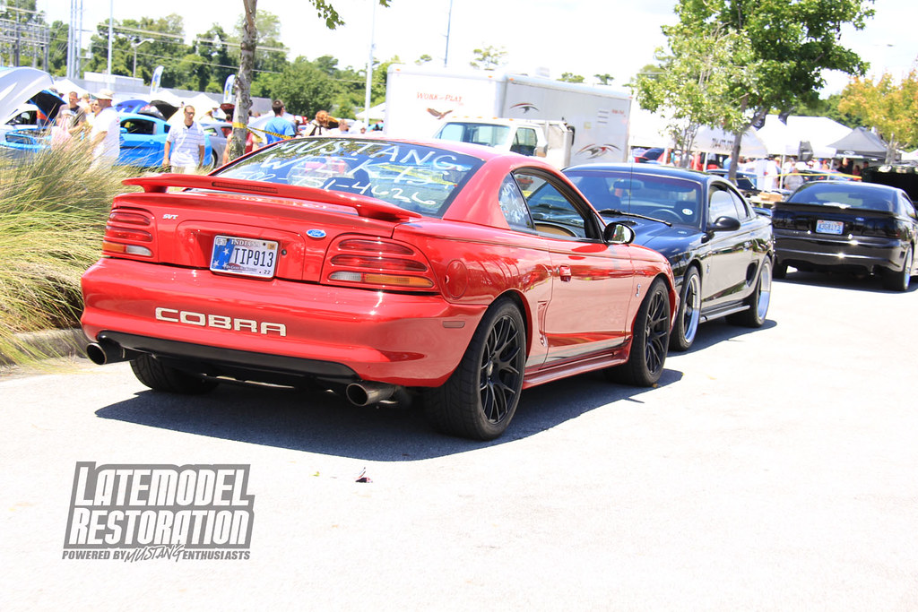 Red Sn95 Cobra with SVE Drift wheels at Mustang Week 2013 | Flickr