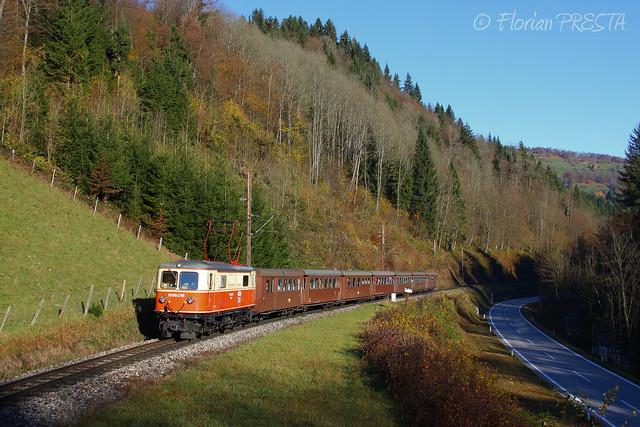 11/2013 - Frankenfels (AT-NÖ) - NÖVOG 1099.016 - P 6807 ''Ötscherbär'' (Sankt-Pölten - Mariazell)