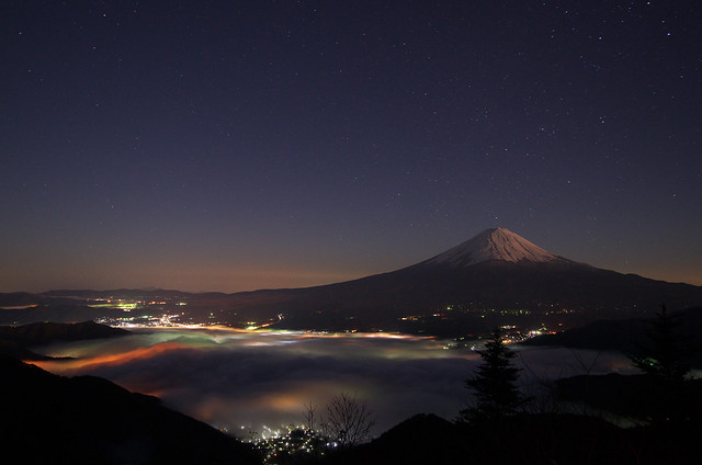 Mt. Fuji before dawn